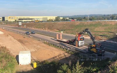 Elite Sheet Piling Ltd undertake extraction on A50 road closure for Tarmac Ltd